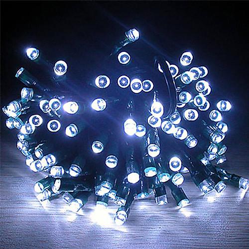Солнечная энергия 22М 200 Белый свет светодиодный Строка Фея свет лампы Рождество Свадьба Декор сада