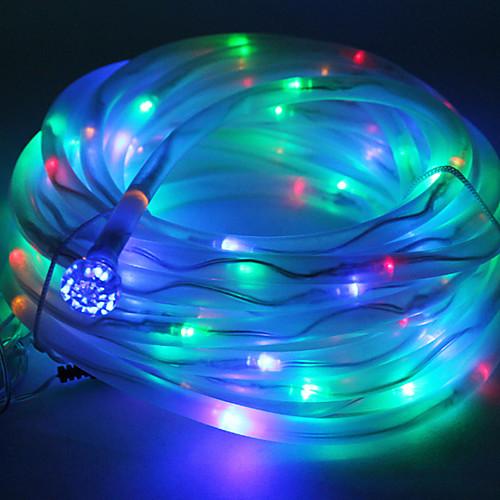 Многоцветный Солнечные трубы 100 Rope шнура СИД свет лампы Garden Party Decor