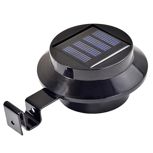 3-LED солнечной энергии желоба двери забор стена света открытый садовое освещение