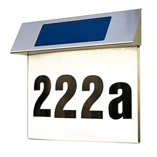 Открытый Солнечные нержавеющей стали 4 светодиода белого света для Doorplate