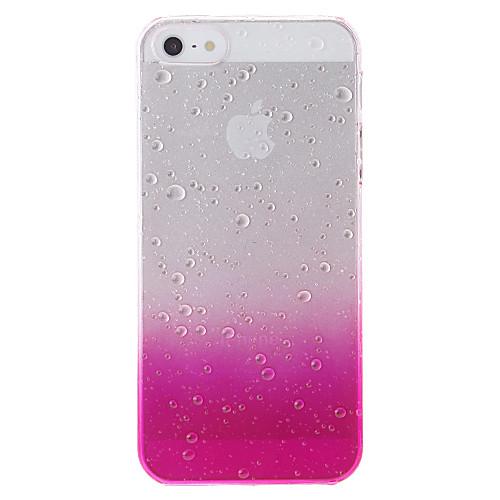 Кейс для Назначение iPhone 5 Apple Кейс для iPhone 5 Прозрачный С узором Кейс на заднюю панель Градиент цвета Твердый ПК для iPhone SE /
