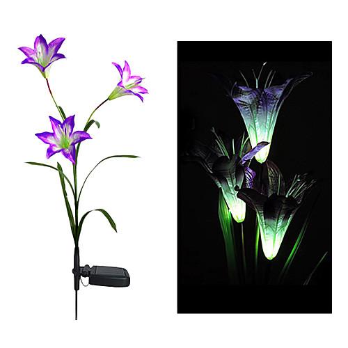 Изменение цвета солнечного цветок лилии Ставка Свет (СНГ-58263A)