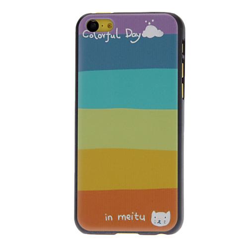 Свежие Разработанный Красочные Единовременная Pattern Жесткий чехол для iPhone 5C