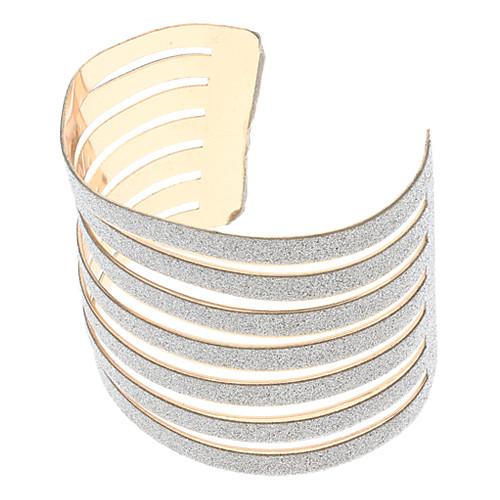 (1 шт) Мода Женские золотые браслет манжеты Сплав