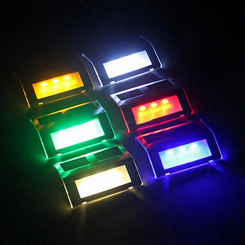 3-LED RGB Открытый водонепроницаемый солнечной конной Шаг датчик света Путь стеновым