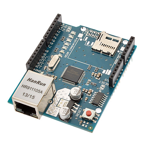 Ethernet плата с Wiznet W5100 Ethernet Chip / TF слот, (Для Arduino)