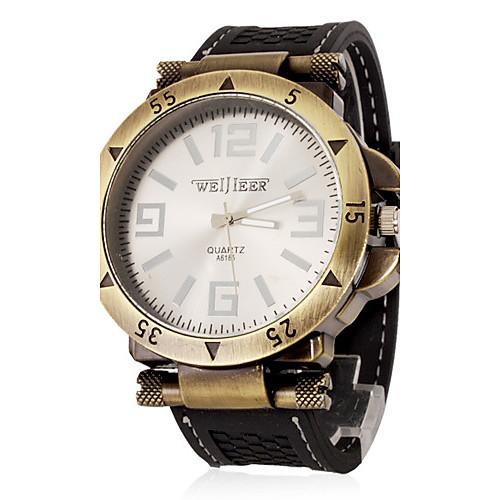 Муж. Наручные часы Армейские часы Кварцевый Повседневные часы силиконовый Группа Кулоны Черный Зеленый от MiniInTheBox.com INT