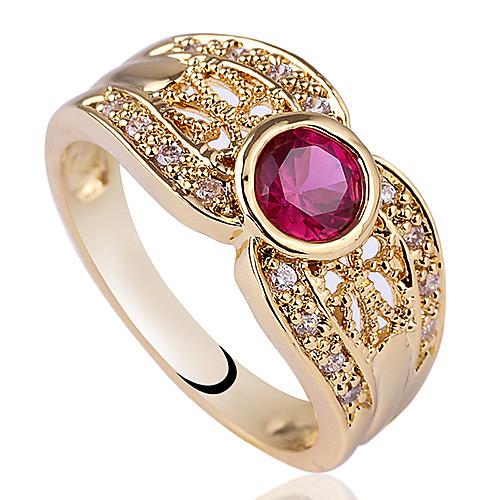 Желтое золото Серебряное кольцо