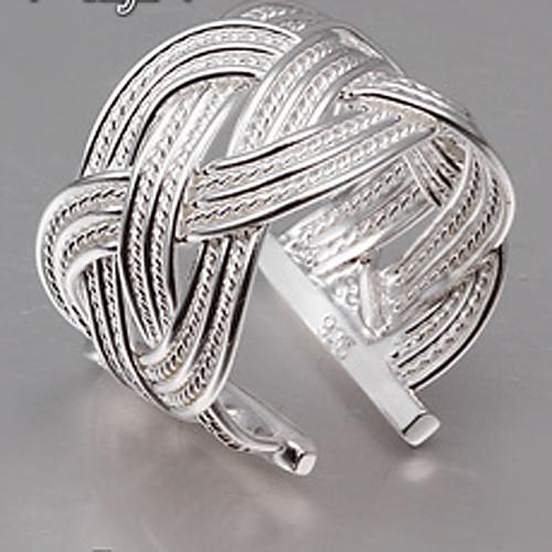 Жен. Серебрянное покрытие Заявление - Открытые / Регулируется Серебряный Кольцо Назначение Для вечеринок