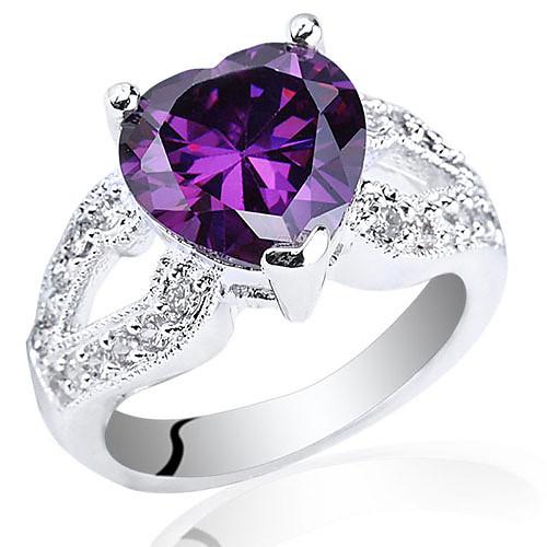 Горячая Стиль Женская маска База S925 Серебряное кольцо 10x10mm форме сердца Циркон