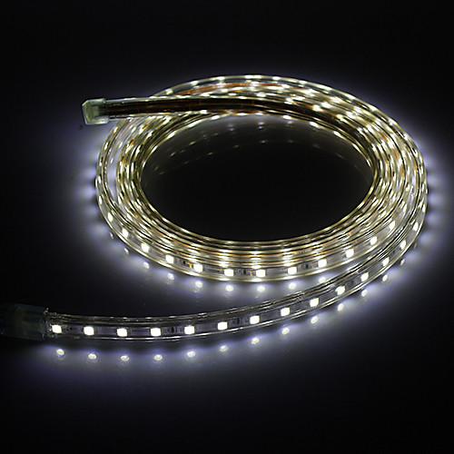 Светодиодная лента, холодный белый свет, 2М, 20W 5050SMD 1400LM 6000K (220 В)