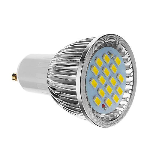 4 Вт. 350-400 lm GU10 Точечное LED освещение 16 светодиоды SMD 5730 Холодный белый AC 85-265V