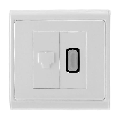 HDMI V1.3 для Женский RJ45 Женский Сетевой настенный корпус / розетка (Type A разъем 19-Pin)