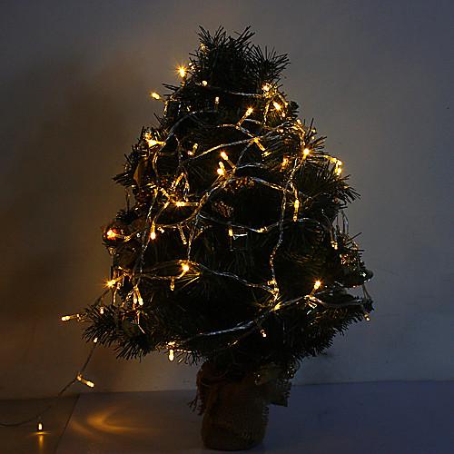 10m 6w 100-led 420lm теплый белый свет светодиодный свет для украшения с 8 режимами отображения (220v)