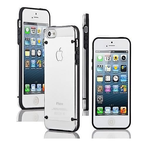 Кейс для Назначение iPhone 5 Apple Кейс для iPhone 5 Сияние в темноте Прозрачный Кейс на заднюю панель Сплошной цвет Мягкий ТПУ для