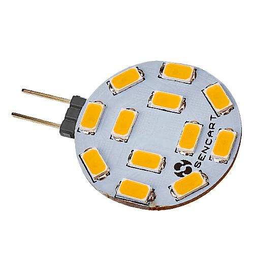 SENCART 5 Вт. 420-500 lm G4 Точечное LED освещение 12 светодиоды SMD 5730 Тёплый белый Холодный белый AC 12V DC 12V