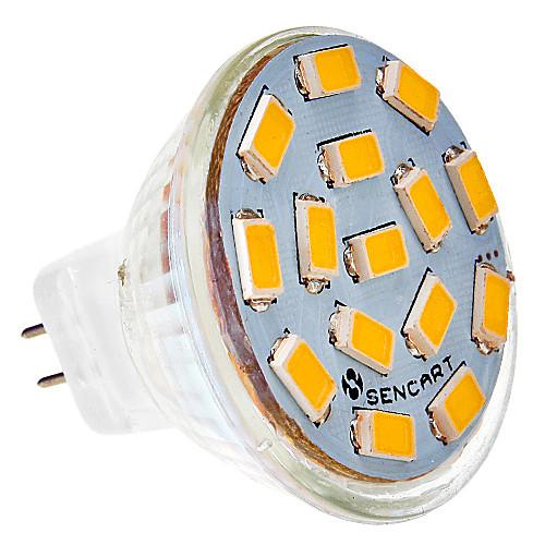 SENCART 5W 450-500lm G4 Точечное LED освещение MR11 15 Светодиодные бусины SMD 5730 Тёплый белый / Холодный белый 24V цена