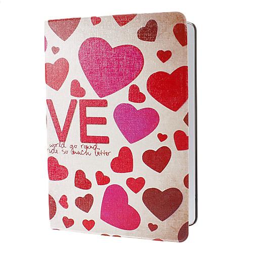 Романтические шаблон сердце любовь PU кожаный чехол с подставкой для IPad Air