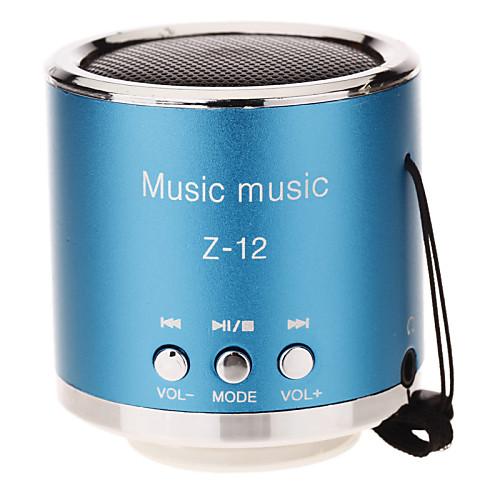Z-12 Круглый Мини динамик, поддержка TF / SD / USB / FM-радио (синий) <br>
