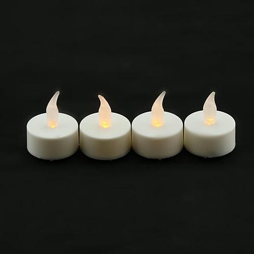 Тине Стиль Пламя Мерцание светодиодные свечи с желтый свет - 4 шт