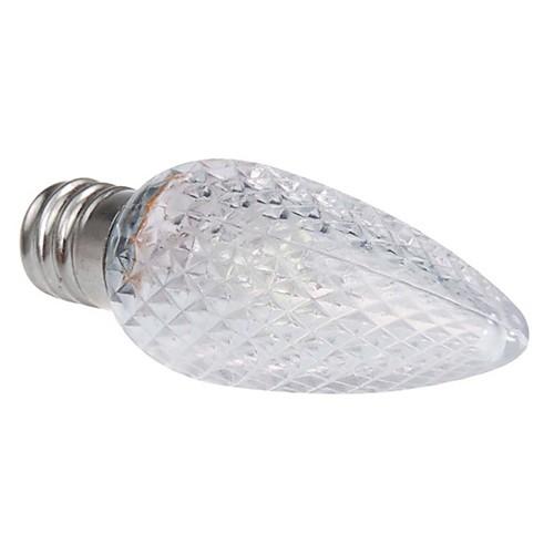 E12 0.5W Белый свет светодиодный светильник свечки-белый