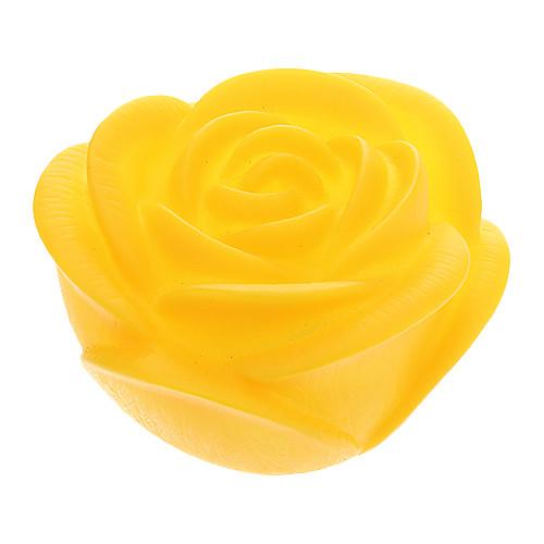 Желтая роза Shaped Красочный светодиодной Night Light (3xAG13)