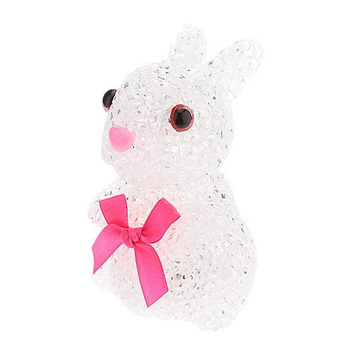 Милый кролик Shaped Красочный светодиодной Night Light (3xAG13)