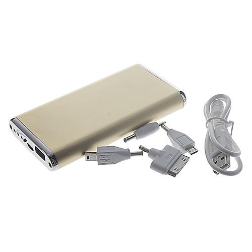 Ультратонкой, металлический внешний аккумулятор для сотовых телефонов и планшетов (золотой цвет), 6500mAh от MiniInTheBox.com INT