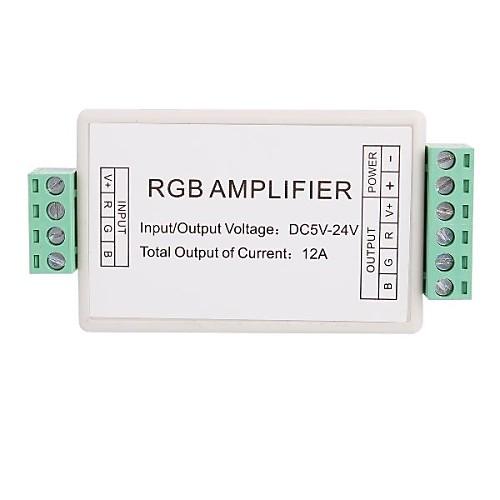 3-канальный мини гамма Усилитель LED контроллер для RGB Светодиодные полосы света (12В 12А 144W)