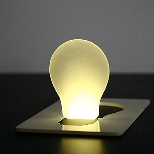 Новинка кредитные карты конструкция колбы формы желтый свет водить (1xcr1216)