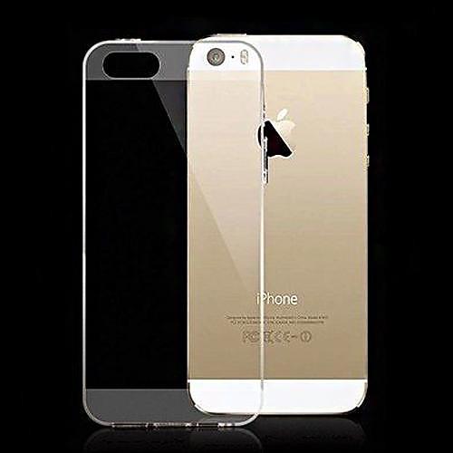 Кейс для Назначение iPhone 5 Apple Кейс для iPhone 5 Ультратонкий Прозрачный Кейс на заднюю панель Сплошной цвет Мягкий Силикон для