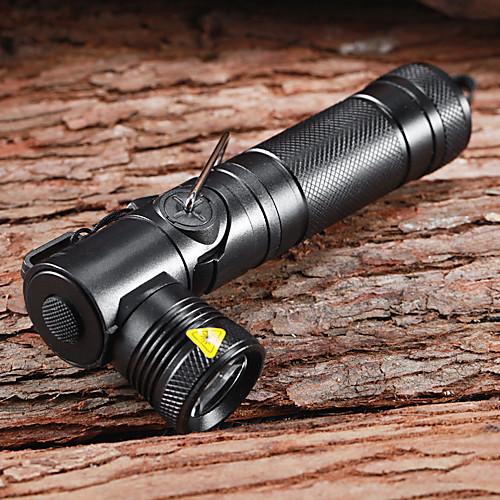K114 Anglehead 3-Mode 1xCree XM-L U2 аккумуляторные Фонари и палаток Lights (1x18650, 900LM, черный)