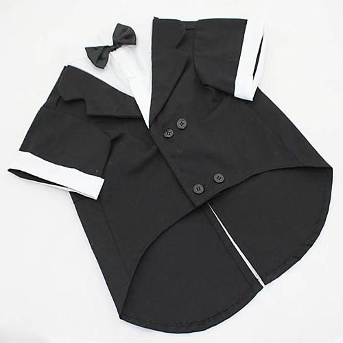 Собака Костюмы смокинг Одежда для собак Однотонный Черный Серый Хлопок Костюм Для домашних животных Муж. Косплей Свадьба куртка синяя 23 разм l