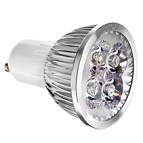 4 Вт. 400 lm GU10 Точечное LED освещение 4 светодиоды Холодный белый AC 85-265V