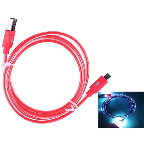 USB голубое свечение синхронизации данных зарядный кабель для Samsung и другие (100см)