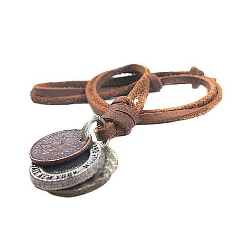 Ожерелья с подвесками - Кожа Уникальный дизайн, Мода Коричневый Ожерелье Назначение Новогодние подарки, Для вечеринок, Подарок бижутерия в подарок