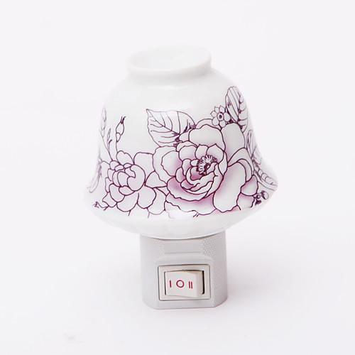 Фиолетовый цветочным узором 2 Режим светодиодный Night Light (110V-240V)