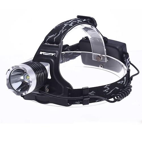 3-режимный налобный LED фонарь с лампой Cree XM-L T6 (1800LM, 2x18650)