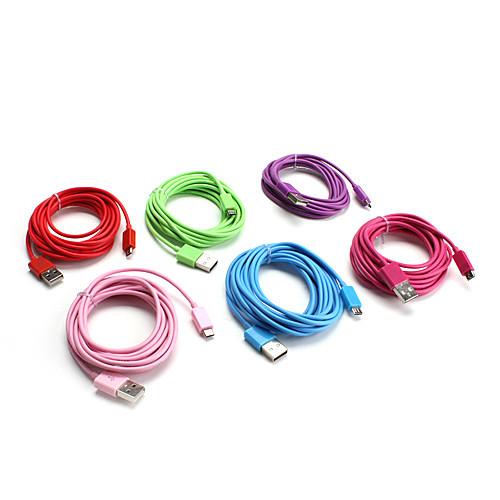 USB кабель для Samsung Galaxy S3 I9300, I9100 и других смартфонов (разные цвета, длина - 300см)  214.000