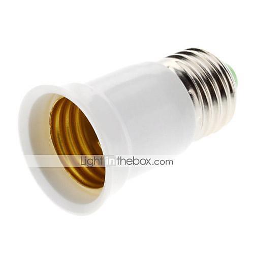 ZDM 1шт E27 на E27 E26 / E27 85-265 V Пластиковые & Металл / пластик Разъем для лампочки
