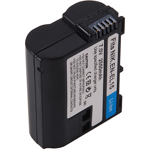 цифрового видео батареи заменить Nikon EN-EL15 для Nikon D7000, D800 и более (7м, 2550 мАч)