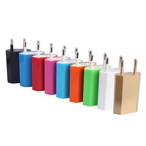 ЕС AC Plug для USB2.0 зарядное устройство адаптер для IPhone 6/6 Plus / Samsung / HTC Телефон (1А, 100-240) <br>