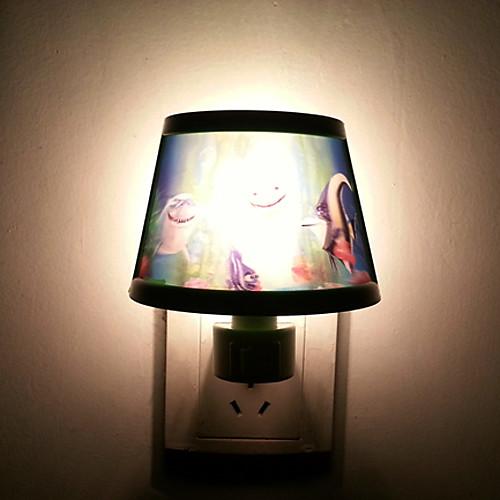 5-10W Рыба схеме Зеленый Пластиковые светодиодной Night Light (AC110-240V)