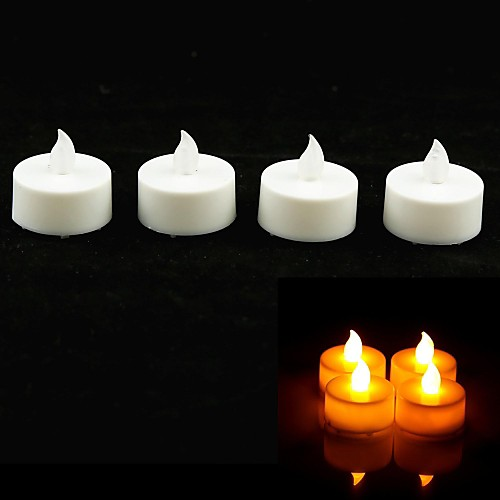 Свечи светодиодные круглые с желтым светом (набор из 4 шт)