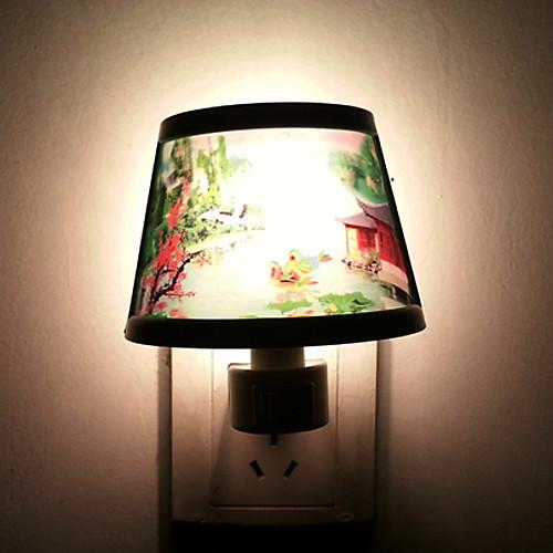 5-10W Декорации Pattern пластиковые светодиодной Night Light (AC110-240V)