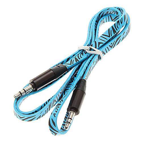 1M 3.3ft Лапша плоским Вспомогательные Aux аудио кабель 3,5 мм между мужчинами кабель кабель