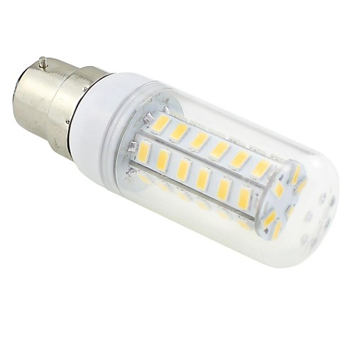 6W 3000-3500 lm B22 LED лампы типа Корн T 48 светодиоды SMD 5730 Тёплый белый AC 220-240V