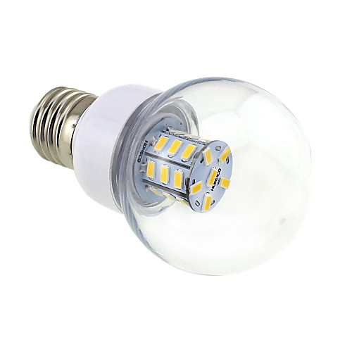 4W E26/E27 Круглые LED лампы G60 27 SMD 5730 500 lm Тёплый белый DC 12 / AC 12 / AC 24 / DC 24 V <br>