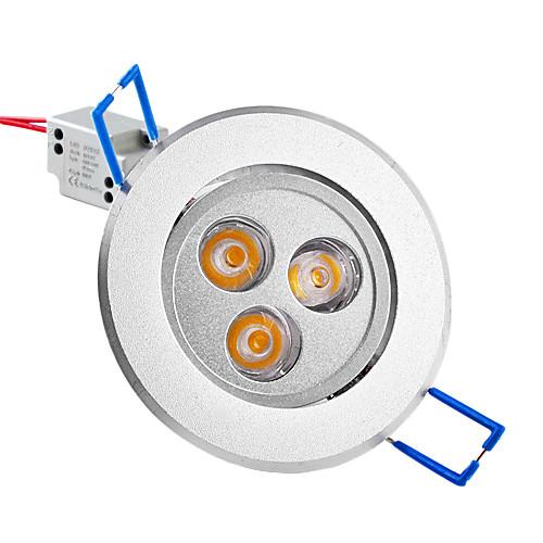 3W 220-250LM теплый белый свет Светодиодная лампа потолка (85-265В)