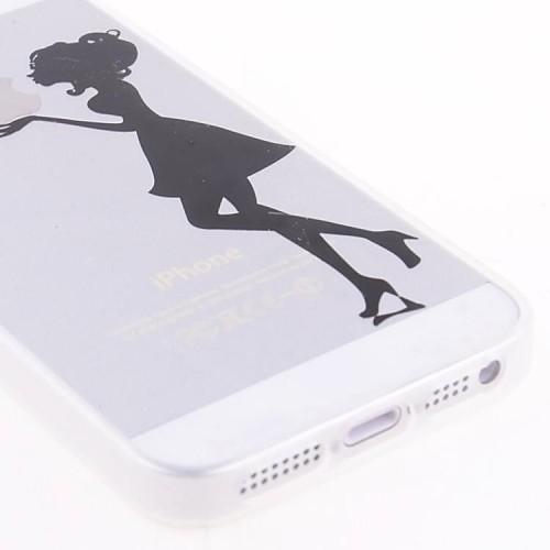 Прозрачный чехол с принтом для IPhone 5 / 5S от MiniInTheBox INT
